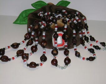 "Buckeye ""NEON"" Buckeye Necklaces in 5 different sizes - Night Games are Coming Soon!!"