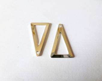 4 charms triangle geometric 23 * 13mm end metal (SFBA02)