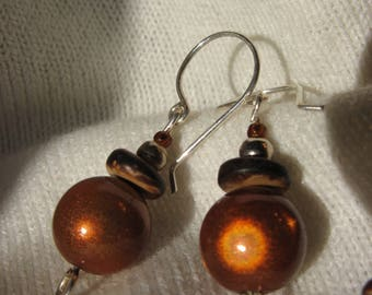 Fancy silver plated autumn earrings