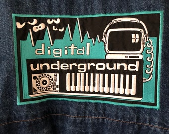 90s Collectible Digital Underground Japan Tour Jacket RARE Hip Hop Memorabilia 2Pac Humpty Dance Jean Denim Jacket Collectible 80s XXL