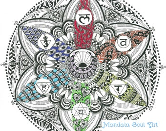 Mandala Soul Art Seven Chakras