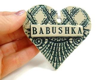 Babushka Ornament, Grandmother Gift, Christmas Ornament, New Grandmother, Babushka Birthday, Mother's Day Gift, Russian Grandmother Gift