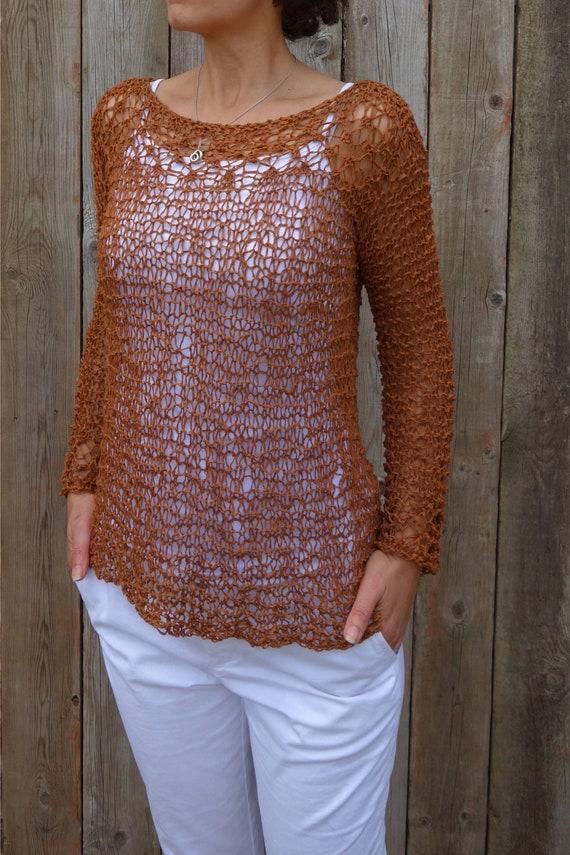 Sweater Knitting Pattern Positano Top Loose Knit Boho
