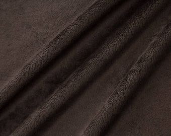 Chocolate coupon short hair velvet minky fabric