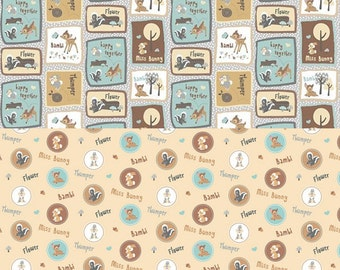Bambi and Friends - 2 Fabric Bundle
