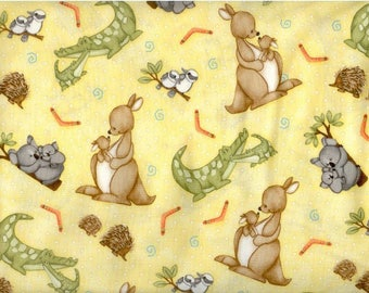 Mommy & Me Yellow Toss - Henry Glass - Cotton Woven sewing quilting fabric  By The Yard HG-15008
