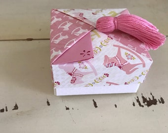 Baby Girl Pink Tassel gift box