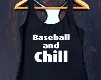 Baseball and Chill T Shirt, Funny Baseball Shirt, Baseball Player Gift, Baseball Mom Shirt, Baseball Fan Shirt