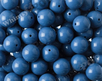20mm - 10 PACK of Blue 20mm Gumball Beads, Chunky Acrylic Beads, 20mm Chunky Beads, 20mm Beads, 2MM Hole