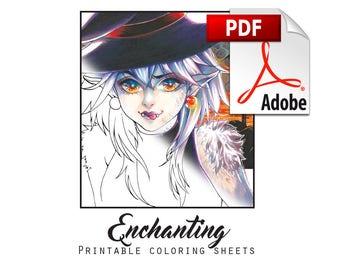 Enchanting - Printable coloring Sheets