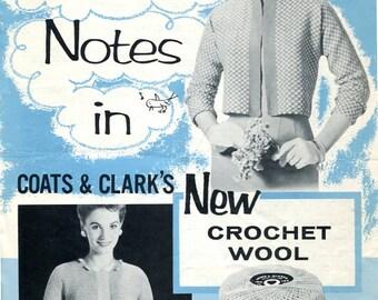 1950s Coats & Clarks Two Women's Tops pattern PDF
