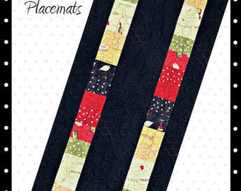 Wine Tablerunner and Placemat Pattern Digital Download