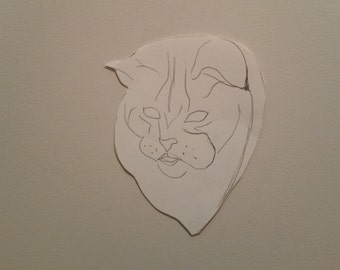 Personalised Cat Portrait Pattern 5