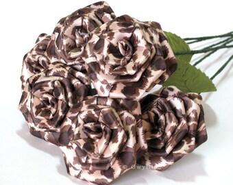 Leopard Print Rose Bouquet