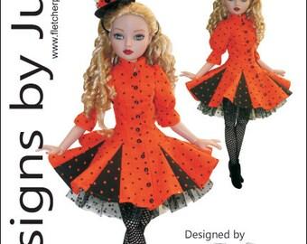 """Flirty Pattern for 16"""" Ellowyne Fashion Dolls Tonner"""