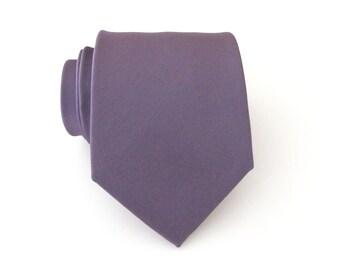 Mauve Mens Tie With *FREE* Matching Pocket Square. Mauve Dusty Light Portobello Purple Mens Necktie Pocket Square Set