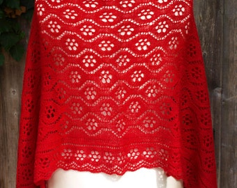 Waterlilies Shawl - PDF knitting pattern