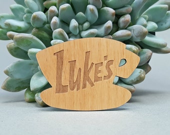 Luke's Diner Fridge Magnet - Gilmore Girls - Laser Engraved on Alder Wood - Refrigerator Magnet
