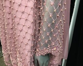 Peplum Pink Net