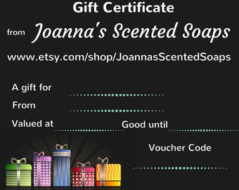 Gift Certificate, Shop Gift Card, Prepaid Gift Card, Gift Voucher, Last minute gift, Email Gift Card, E-Gift, Store Credit, Coupon Code Card