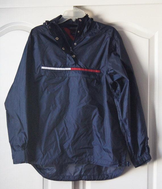 TOMMY HILFIGER 90's Vintage Windbreaker Jacket Pullover SM dcF8bPaB
