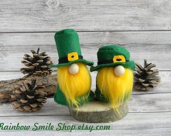 Leprechaun gnome St Patrick's Day decor Scandinavian Gnomes Irish Gnome Elf St patricks day decorations Ireland gift green gnome