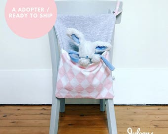 Put blanket or to adopt - Pajama bag Pink White