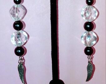 Hematite earrings.