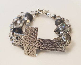 Cross Bracelet - Beaded