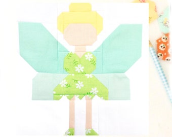 Fairy Quilt Block PDF Instant Download Quilt Pattern 6 inch and 12 inch block instructions