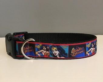 Wonder Woman Dog Collar