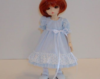 BlueStriped Ruffled Dress - fits Nikki Britt Adeleine/Mini Pepper, Little Fee , similar Yo sizes