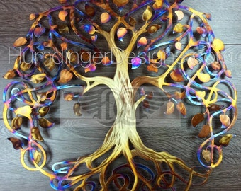 Wedding Anniversary Gift Stainless Steel Infinity Tree of Life Wall Art