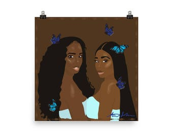 Butterfly Girls Poster
