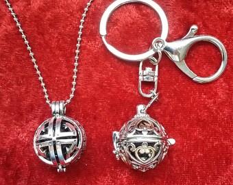 Shungite Necklace and keychain set