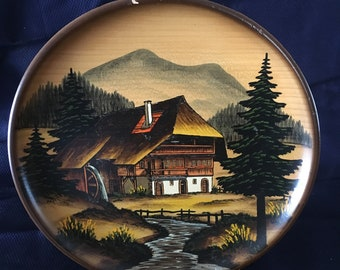 German wooden wall plate