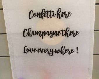Pack of 10 Confetti bags wedding events can be personalised