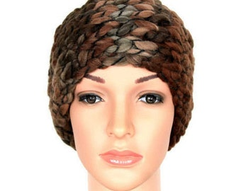 Brown Knit Headband Ear Warmer Winter Headbands for Women Earwarmer Headbands for Women Knitted Gift Womens Gift Winter