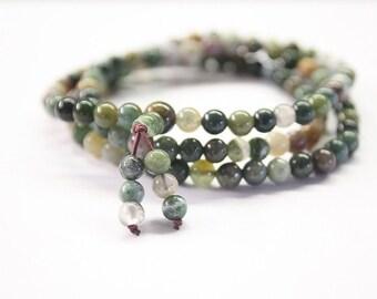 Agate elastic mala / bracelet agate / agate beaded bracelet