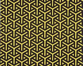 Boomerangs Yellow Blotter Art