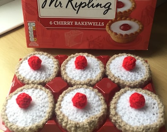 x6 Hand knitted cherry bakewells