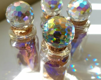 Magical Faerie Bottle,Butterfly Wings,Glass,Fairie,Magic,Swarovski,Crystal