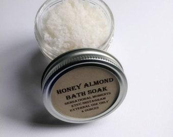 Honey almond bath soak
