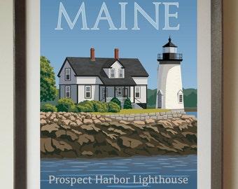Prospect Harbor Lighthouse Fine Art Print