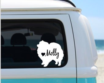 Pomeranian decal | Personalized Pomeranian Decal | Car Decal | Laptop Decal | Notebook Decal | Window Decal | iPad Decal |
