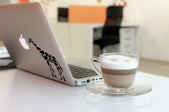 Stylized Tribal Giraffe laptop decal Sticker, mac, Macbook, Decals, pro, air, retina, Stickers, Africa, African wildlife. Giraffes, Animal