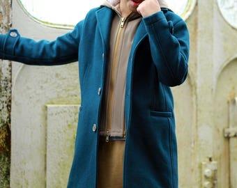 Classic wool boys coat with removable hood Winter coat Boys wool coat Trendy coat Toddler boy coat Down coat Pea coat Long boys coats
