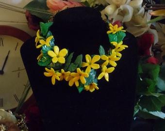 Spring-yellow jasmine, delicate, light spring.