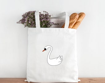 swan tote bag - swan nursery - swan bag design - swan tote bag - swan home decor - swan nursery decor - home decor swan design