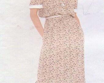 1980s Chloe Womens Pullover Blouson Dress Vogue Paris Original Sewing Pattern 2974 Size 10 Bust 32 1/2 Vintage Vogue Sewing Pattern